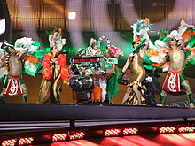 ESC 2008 - Ireland - Dustin the Turkey, 1st semifinal.jpg