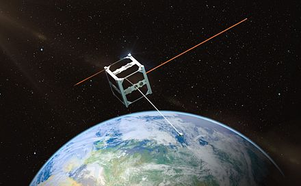 ESTCube-1 is the first Estonian satellite. ESTCube orbiidil 2.jpg