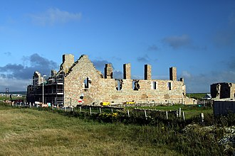 Earl's Palace, Birsay - Earl's Palace in Birsay during reconstruction