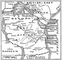 East Africa WWI as at August 1915