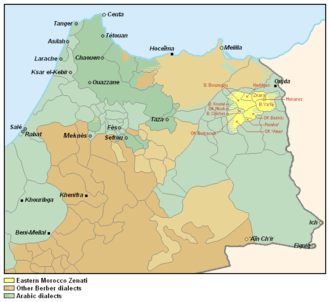 Eastern Morocco Zenati - Image: Eastern Morocco Zenati map