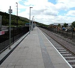 Ebbw Vale Town railway station platform - geograph.org.uk - 4479392.jpg