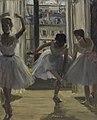 16 / Drei Tänzerinnen in einem Übungssaal