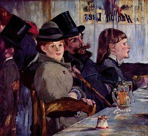 Boulevard des Italiens - Café by Édouard Manet.