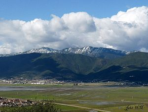 Edough Massif - View of the Edough Massif with snow