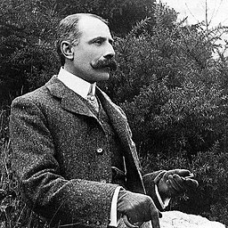 English composer Edward Elgar, likely in the early 1900s.