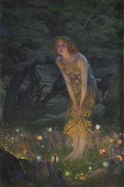 Midsummer Eve by Edward Robert Hughes c. 1908 Edward Robert Hughes - Midsummer Eve (1908c).jpg