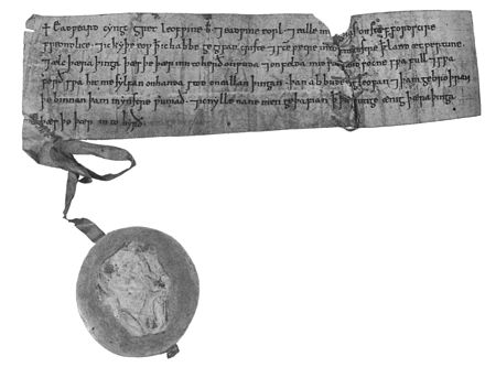 A sealed writ of Edward the Confessor Edward the Confessor sealed writ.jpg