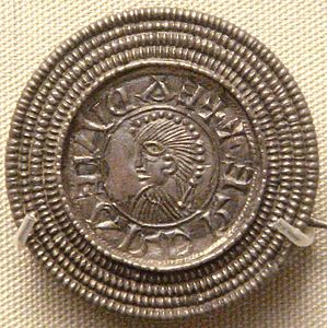 Edward the Elder coin imitation silver brooch Rome Italy c 920.jpg