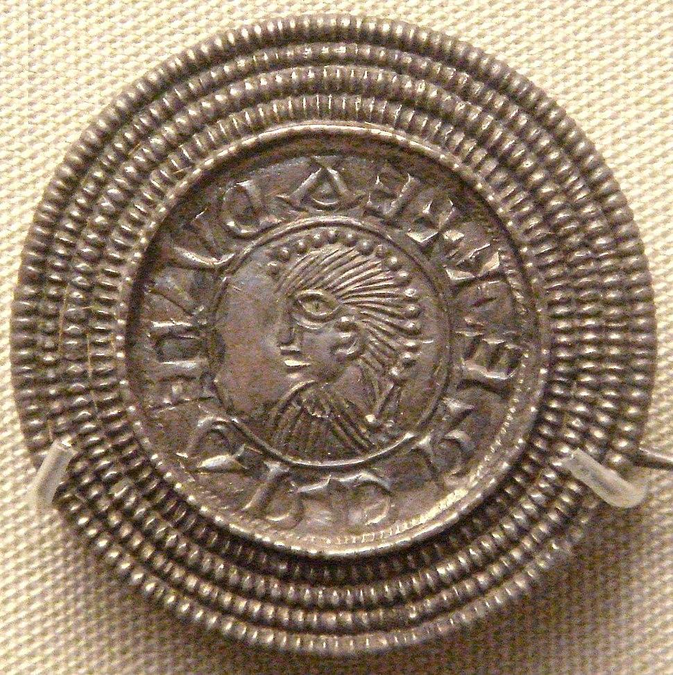 Edward the Elder coin imitation silver brooch Rome Italy c 920