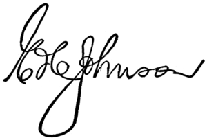 Edwin C. Johnson - Image: Edwin Johnson Signature