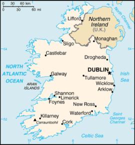 kart over irland Irland – Wikipedia kart over irland