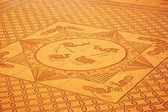 Ein Gedi - Mosaic from ancient Ein Gedi synagogue