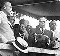 El gobernador de Tucumán, Miguel Critto junto al intendente de San Miguel de Tucumán, José Lozano Muñoz. Año 1941.jpg