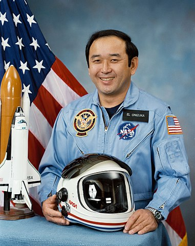Astronaut Ellison Shoji Onizuka, NASA photo Source: Wikipedia (NASA site unavailable January 2019) 381px-Ellison_Shoji_Onizuka_%28NASA%29.jpg