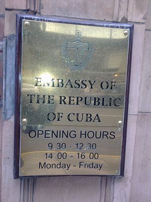 Embassy of Cuba, London - Image: Embassy of Cuba in London 2