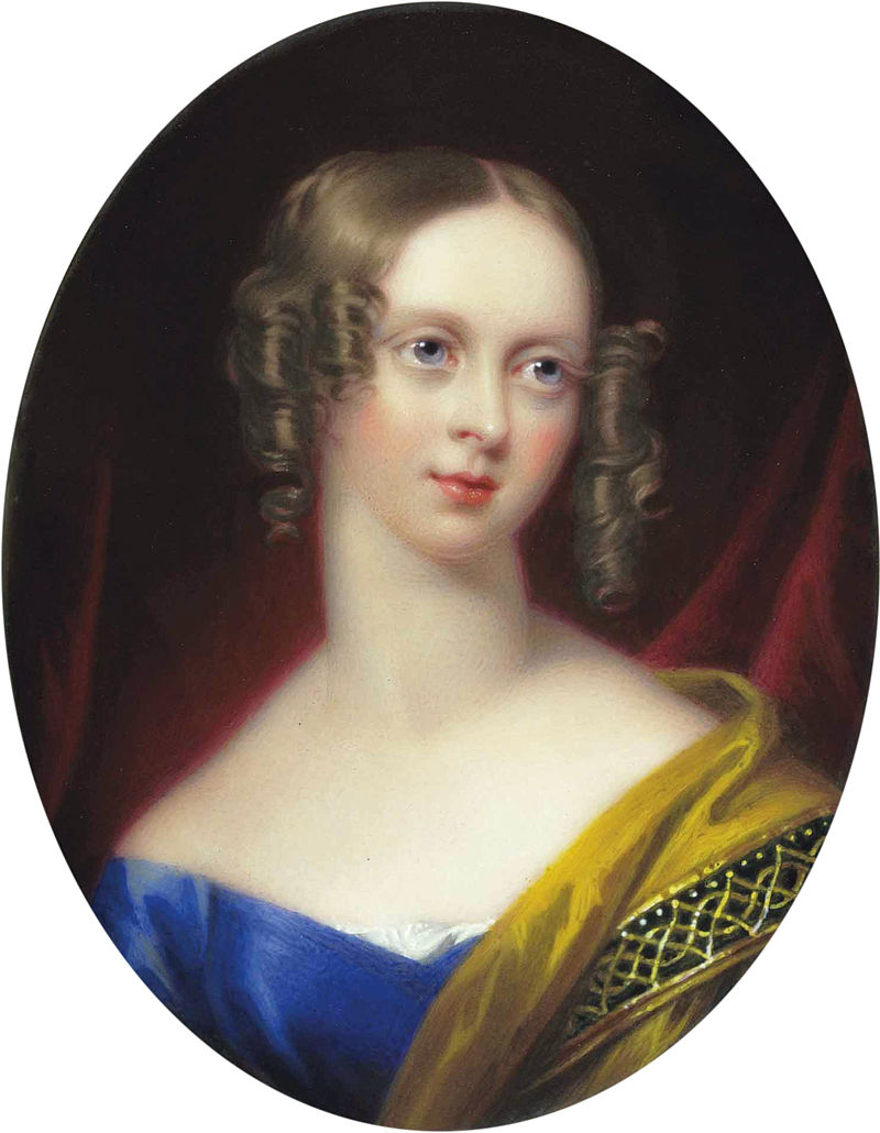 Emily Mary, Countess of Craven, née Grimston, by Henry Pierce Bone.jpg