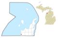 Empire (village), MI location.png