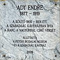 Endre Ady plaque Bp05 Aulich8.jpg