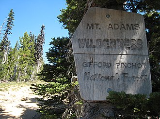 Mount Adams Wilderness - Image: Entering Mt Adams Wilderness