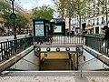 Entrée Station Métro Jacques Bonsergent Paris 4.jpg