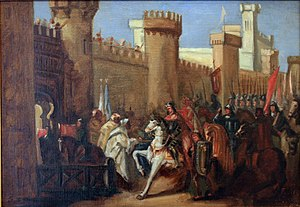 Murcia - Entrance of James I of Aragon at Murcia in 1266