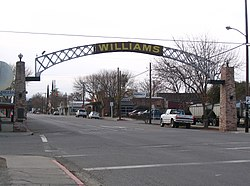 Entrance arch to Williams