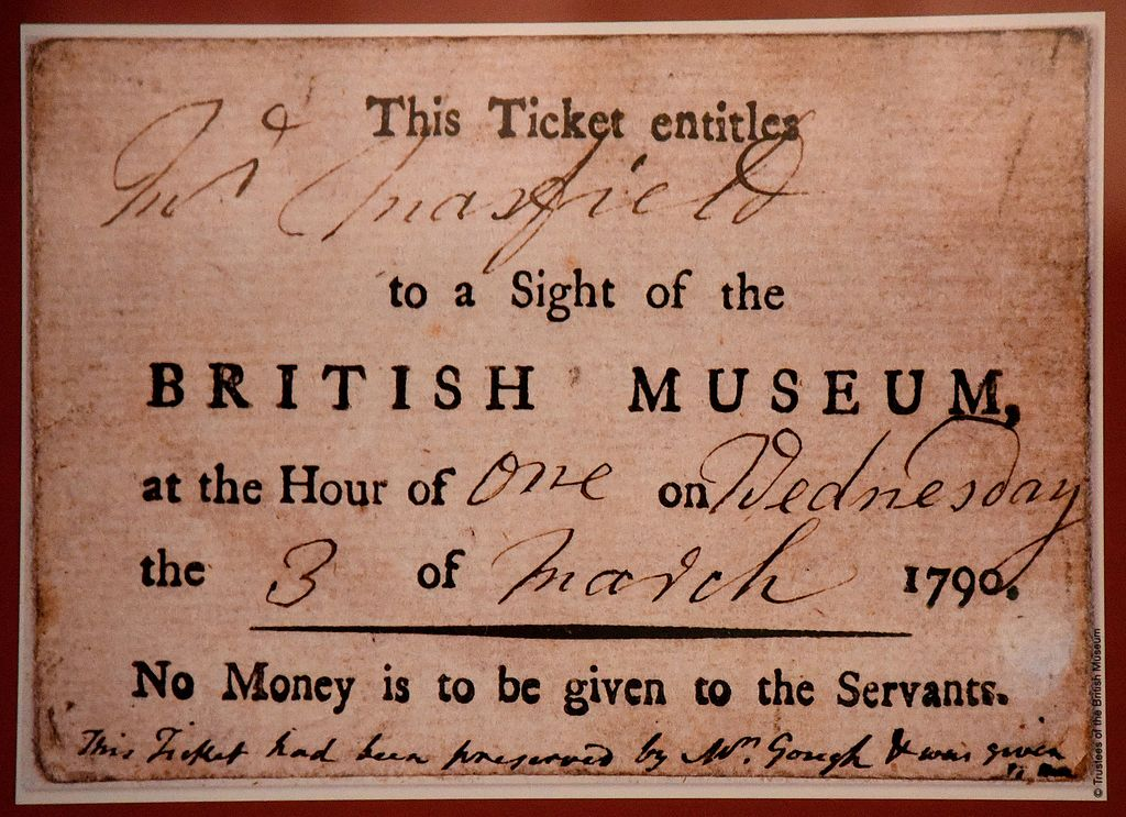 Image result for ticket british museum london