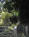 Entrance to footpath in Back Lane - geograph.org.uk - 1416085.jpg