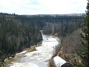 Pembina River (Alberta) - Pembina River at Entwistle