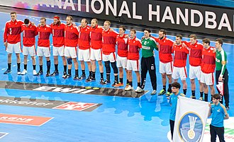 Denmark national handball team - Image: Equipe du Danemark Mondial 2017 20170116