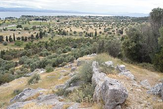 Eretria - Ancient polygonal city walls on acropolis