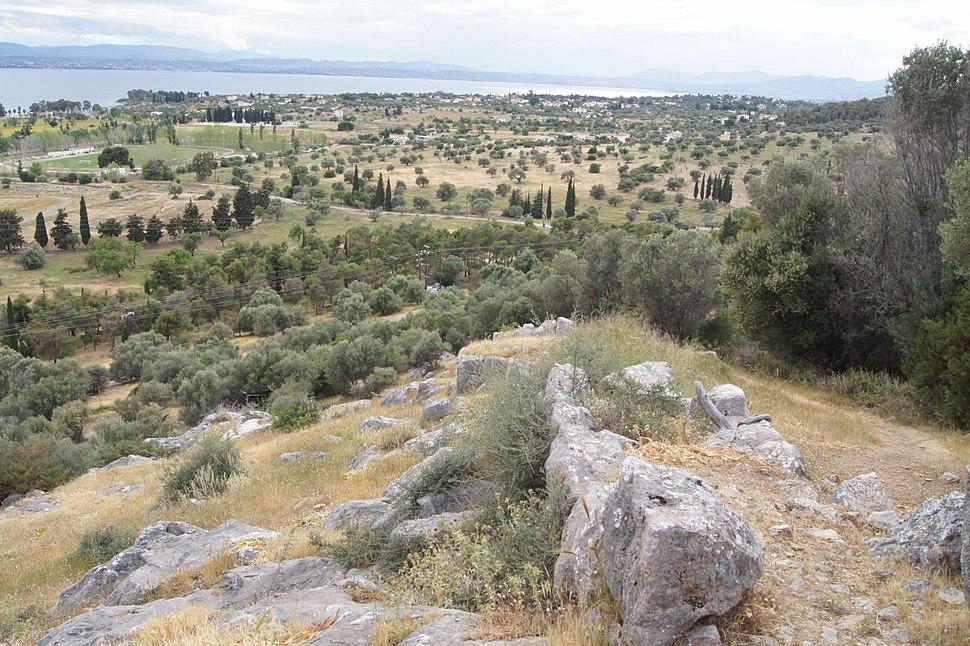 Eretria walls on acropolis