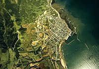Esashi town(Soya) center area Aerial photograph.1977.jpg