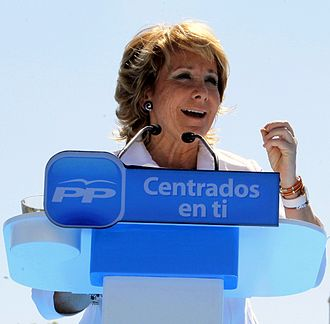Esperanza Aguirre - Esperanza Aguirre during May 2011 regional elections.
