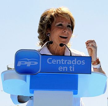 English: Esperanza Aguirre, Spanish politician...
