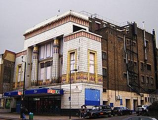 Carlton Cinema, Essex Road former cinema, then bingo hall, now church in Islington, London, England