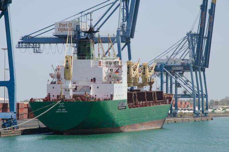 File:Ethiopian cargo ship at Port of Djibouti.jpg