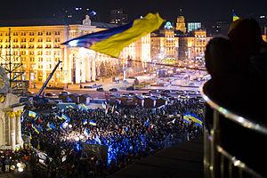 Timeline of the Euromaidan - Pro-European Union rally in Kiev, 27 November 2013