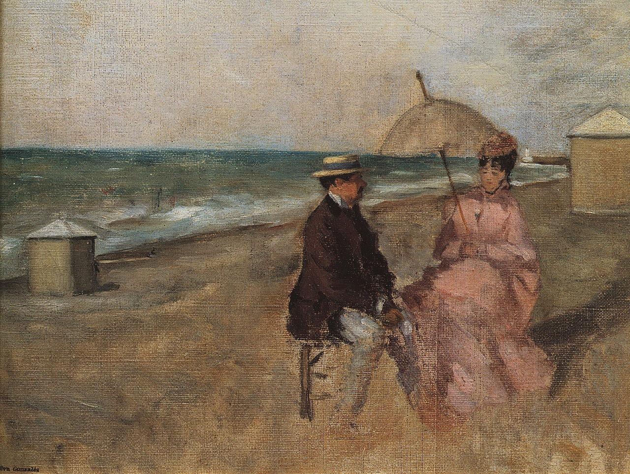 Ева Гонсалес - Étude sur la plage.jpg