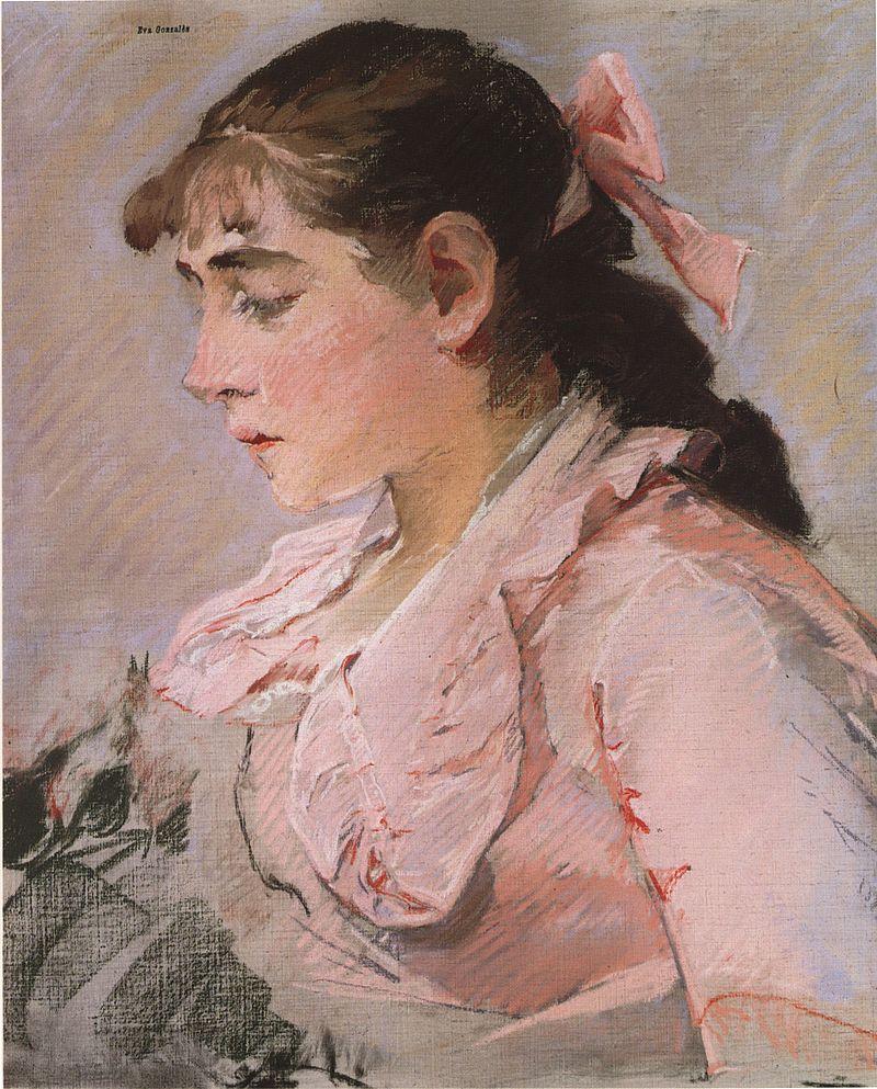 Ева Гонсалес - Женщина в розовом.jpg