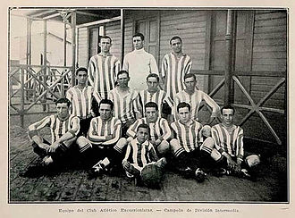 CA Excursionistas - The squad that won the first title for the club, the Intermedia championship in 1924.