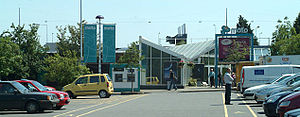 Exeter services - The main services building
