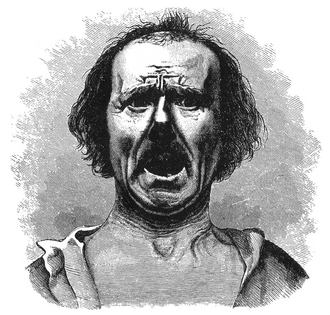 """Horror and terror - Figure 21 from Charles Darwin's The Expression of the Emotions in Man and Animals. Caption reads """"FIG. 21.—Horror and Agony, copied from a photograph by Dr. Duchenne."""""""