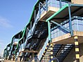 External stairways, Newcastle Metro Radio Arena - geograph.org.uk - 2025087.jpg