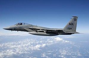 F-15A Eagle prepares to fire AIM-9 Sidewinder - DF-SD-07-12188