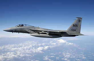 102nd Intelligence Wing - An F-15C from the 102d Fighter Wing prepares to fire upon an aerial drone over the Gulf of Mexico in 2005