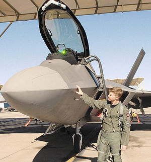 59th Test and Evaluation Squadron - A 59th Test and Evaluation Squadron F-22 pilot, conducts a pre-flight inspection