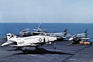F-4J VF-96 landing on USS Constellation (CVA-64) c1972.jpg