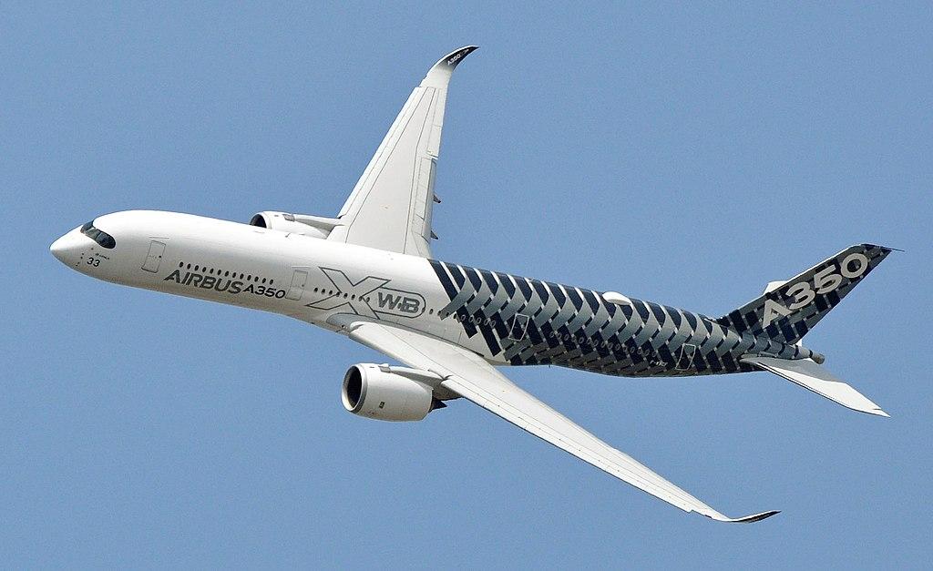 De nieuwe Airbus A350 X is grotendeels gebouwd met composiet materialen zoals glasvezel en carbon fiber.